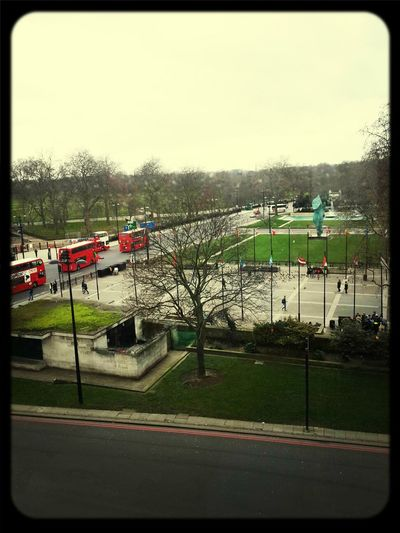 The view from the Marriott Park Lane London Weekend