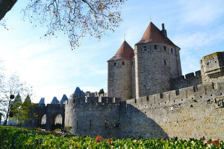 MedievalTown Carcassonne Historical Building Medieval Medieval City France Medieval Architecture History Architecture Castle Building Exterior Travel Destinations Built Structure Outdoors No People Day Cityscape Sky