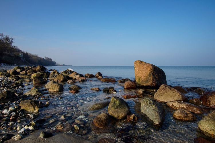 Rock - Object Sea Water Nature Tranquility Tranquil Scene Beach