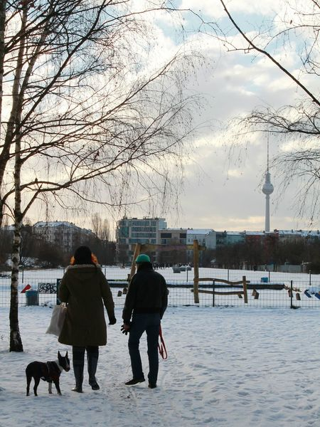 People From Behind People From The Back It's Cold Outside Capture Berlin January2016 Winter Wonderland Wintertime Winterscapes Winter From My Point Of View Real People Dog Enjoying Life My Fucking Berlin Berlin EyeEm Best Shots Eye4photography  EyeEmBestPics Lensculture EyeEm Masterclass Adventure Buddies Just Go Shoot Urban Landscape Berlin TV Tower That Tower Again