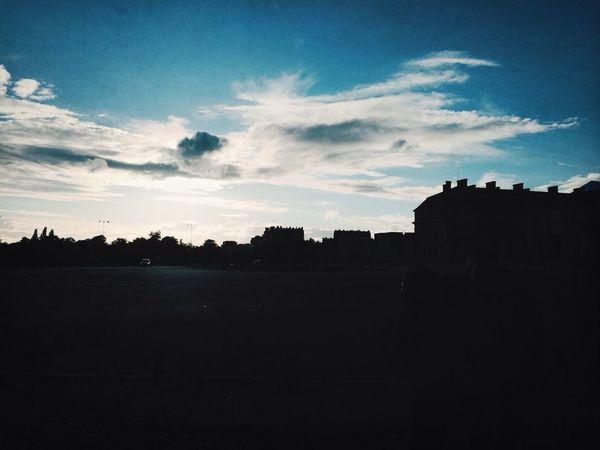 Landscapes Paris ❤ Clouds On The Road