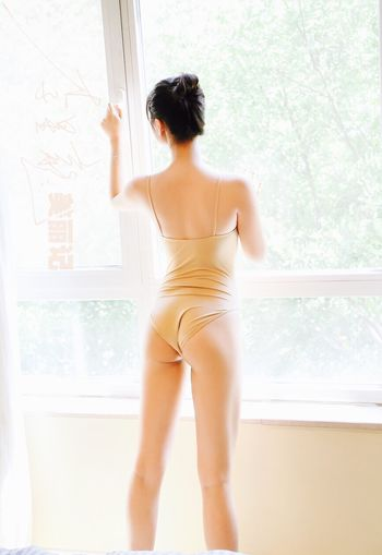 Need Air Window Rear View One Person Indoors  Curtain Standing Day Young Adult Real People Women Young Women Full Length Camisole One Young Woman Only One Woman Only Adult Adults Only People Beautiful Woman