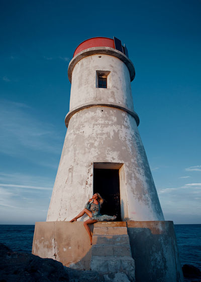 Fashion shoot with the lighthouse.