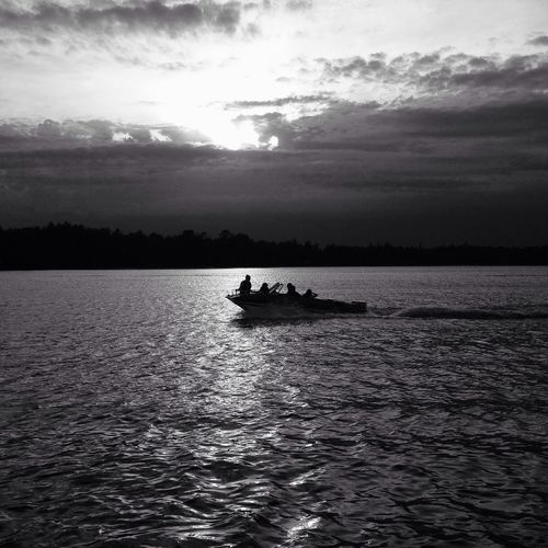 Evening boat ride Water Black And White IPSSpace