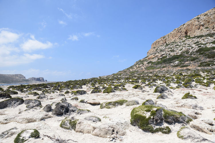 Balos Balos Lagoon Beauty In Nature Blue Cloud - Sky Crete Day Environment Formation Land Landmark Landscape Mountain Mountain Peak Nature No People Non-urban Scene Outdoors Rock Rock - Object Rock Formation Scenics - Nature Sky Solid Tranquil Scene Tranquility