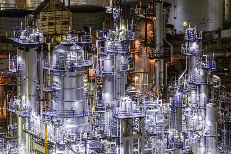 JXTGエネルギー和歌山製油所 Oil Industry Oil Paint Oil Factory Wakayama Japan Nightphotography Business Retail  Business Finance And Industry Full Frame Industrial Building  Production Line Manufacturing Equipment