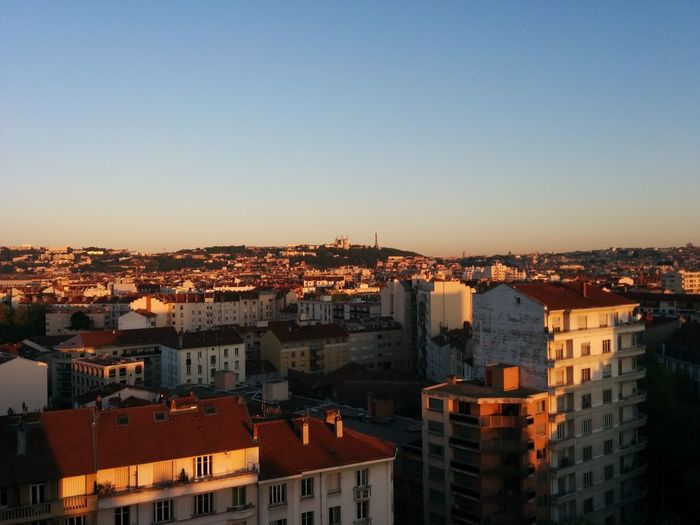 Cityscape City Sunset Sky Dusk Urban Skyline Architecture Business Finance And Industry Roof Building Exterior Travel Destinations Residential Building Outdoors Harbor No People Urban Road Night Lyon France Lyon Rooftops Fourvière