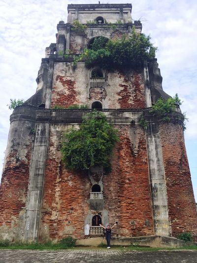 Sinking bell tower was built during the time of the Spaniards. Philippines Ilocos Norte, Philippines  Sinking Bell Tower