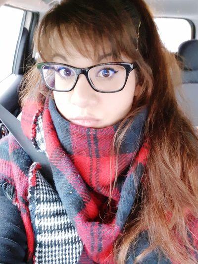 Eyeglasses  Brown Hair Tired Eyes  Geekgirl