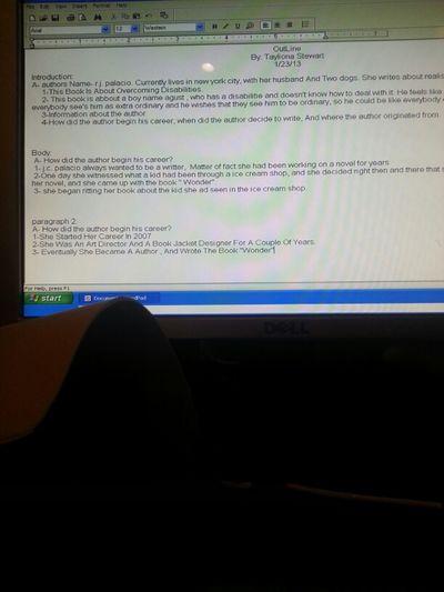 Language Arts Homework. Last Night