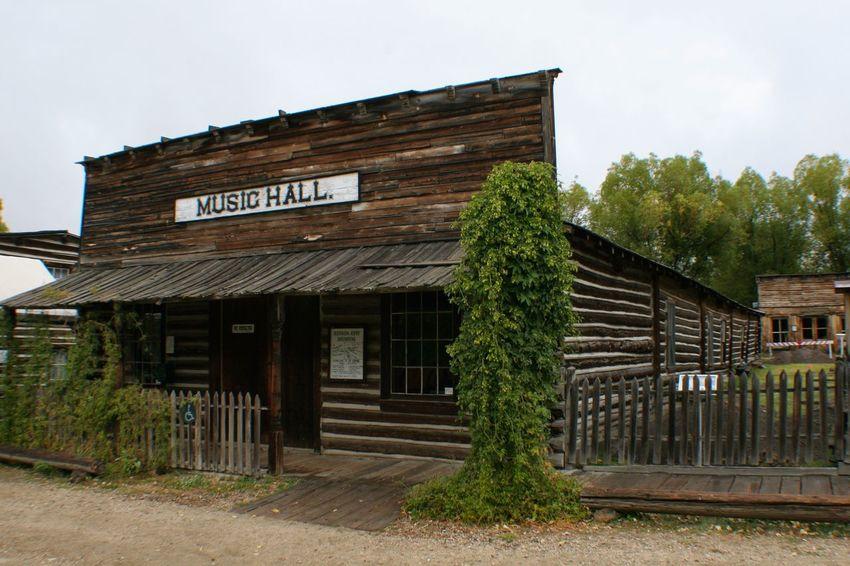 Music Hall, Nevada City Montana Ghost Town American West Old West  Old Building  Nevada City Music Hall Log Cabin