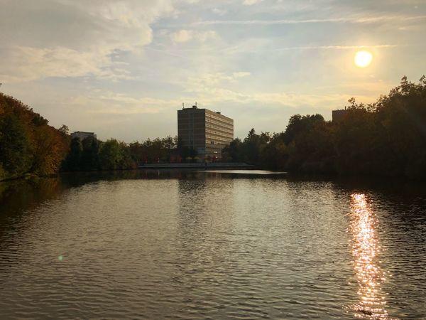 University Thm Giessen Campus Schwanenteich Sun