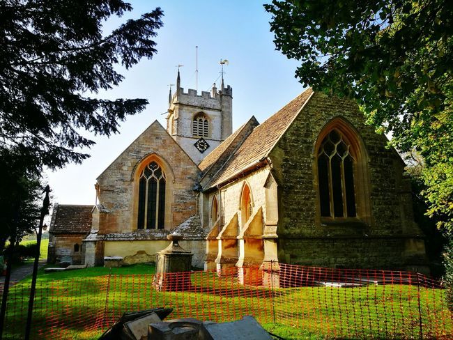 Religion Architecture Built Structure Building Exterior Travel Destinations Day Tree Grass No People Outdoors Sky Church Old English Church English Church Quaint Church