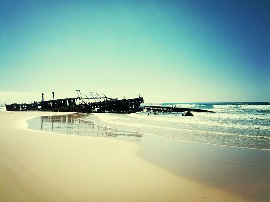Shipwreck at Fraser Island