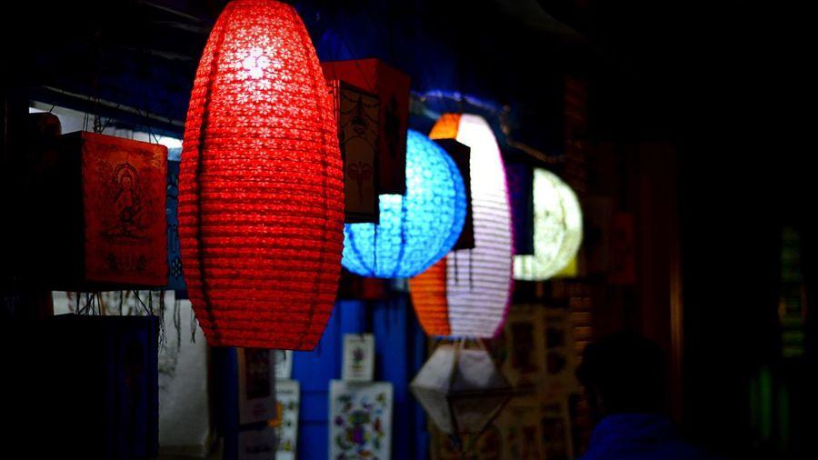 Nepal City Nigh Lantern The Lamp night scene Night Scene