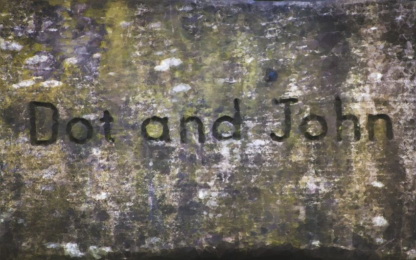 Who were they....and why? Bench John Names Abstract Abstract Art Backgrounds Close-up Colour Colours Of Nature Communication Dot Full Frame No People Text Textured
