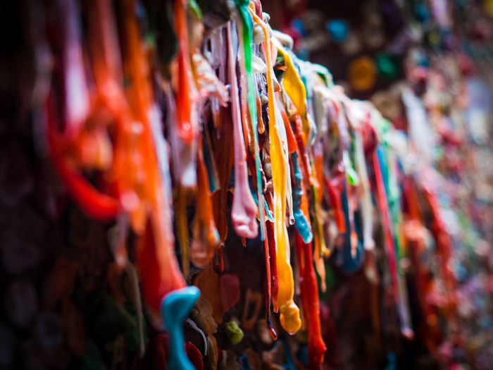 Gum Wall in Post Alley. Seattle, Washington Abundance Close-up Color Color Explosion Colorful Colors Cultures Day Focus On Foreground Gum Gum Wall Multi Colored No People Outdoors Post Alley Seattle Seattle Washington Selective Focus