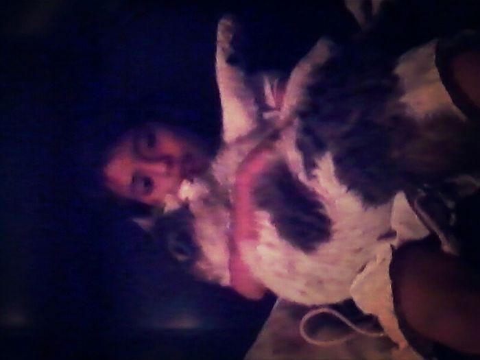 Mi hermanitaa con mi gato ;)
