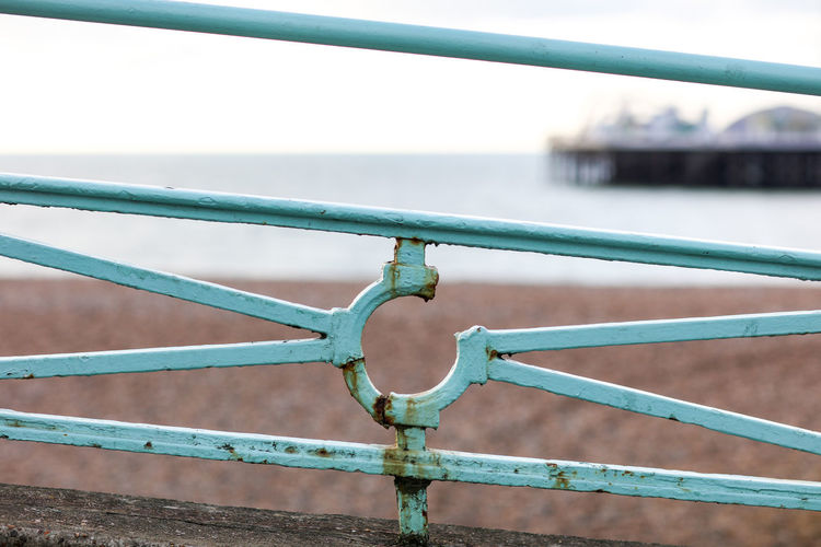 Seaside Brighton Brighton Beach Metal Railing Close-up No People Day Barrier Outdoors Water Safety Fence Rusty Corrosion Metal Corrosion Security Built Structure Seaside Travel Travel Destinations