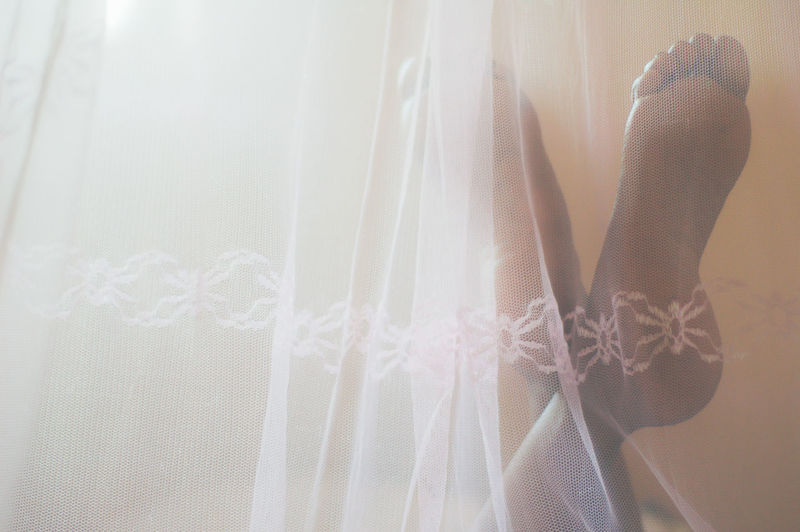 Adult Bride Close-up Curtain Day Human Body Part Human Hand Indoors  Lifestyles Low Section One Person People Real People Wedding Dress Women