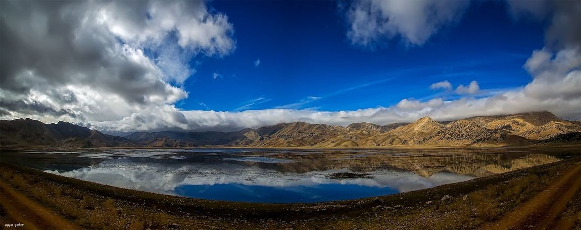 Sky Mountain Mountain Range Lake Blue Scenics Reflection Nature Cloud - Sky Landscape Beauty In Nature *instagram Nature *nikon Cloud *fantastic *landspace Water Tranquility Outdoors No People Day