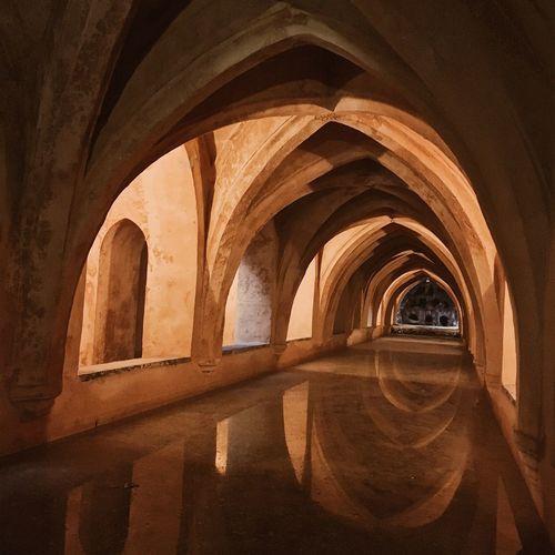Interior of archway