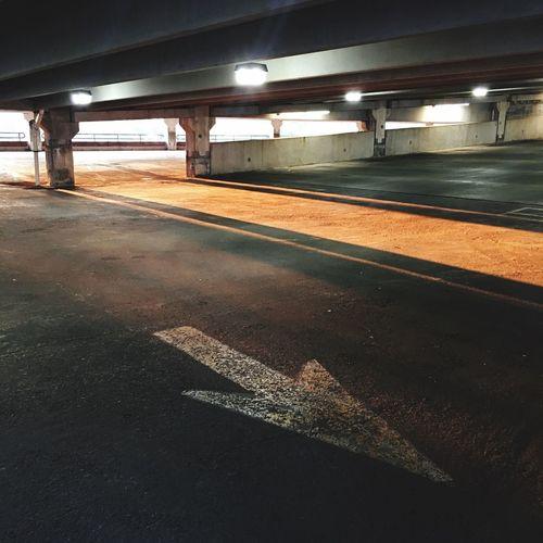 View of illuminated road