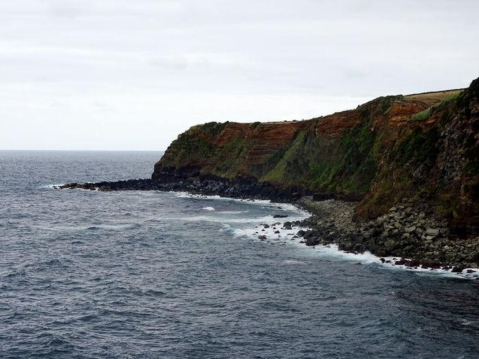 Azores Sea Beach Cliff Outdoor Pursuit Rock - Object Horizon Over Water Sky Landscape Rocky Coastline Seascape Volcanic Rock