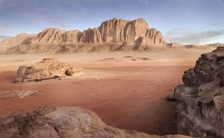 Arid Climate Cliff Geology Horizon Over Water Jordan Physical Geography Rock Rock - Object Rock Formation Rough Sand Scenics Sea Shore Surf Tranquil Scene Tranquility Travel Photography Trip Vacations Wadi Rum Kuomi Collection