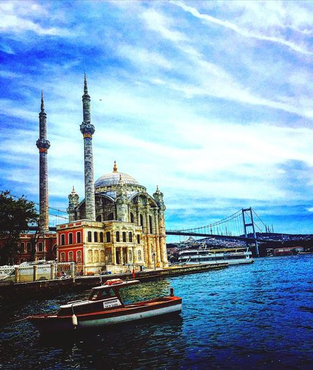 Ortaköy Mosque Ortakoymosque Clouds And Sky Bluesky Taking Photos