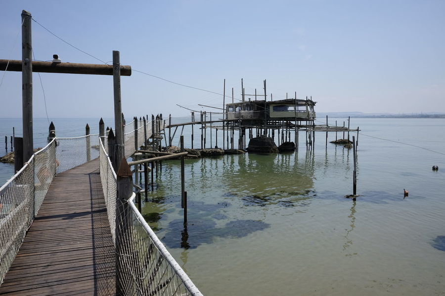 Architecture Beauty In Nature Built Structure Clear Sky Day Fishing Jetty Nature No People Outdoors Pier Scenics Sea Sky Tranquil Scene Tranquility Trebuchet Water