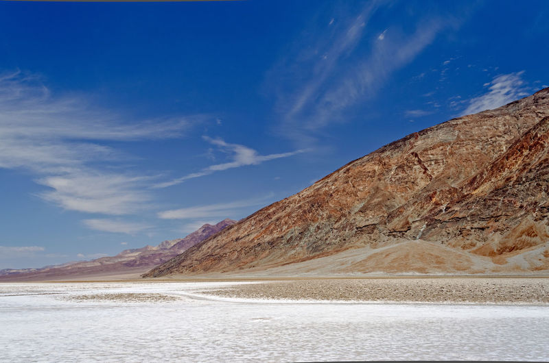 Badwater Basin, the lowest elevation point in USA, Death Valley National park in California Badwater Basin California Desert Hot USA Arid Desert Beauty Furnace Creek Warm