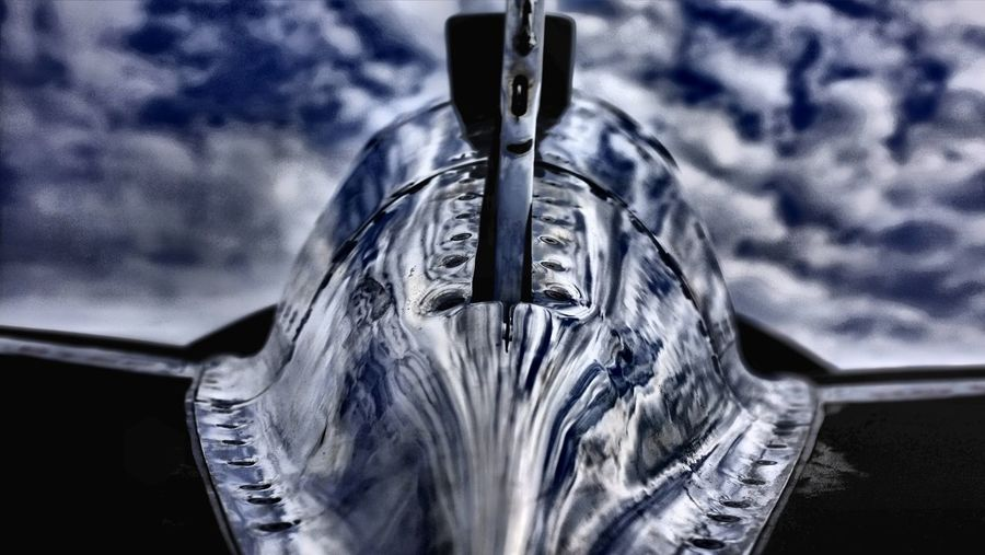 Cloudy Lockheed P38 Shining Aircraft Airplane Fighter Plane Fighterplane Polished Steel See The Light EyeEm Ready