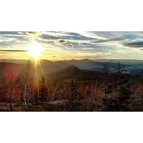 Who wouldn't love to call this place homeland? Nature Mountains Hills Creation Czech Sunset Varnsdorf Luzickehory