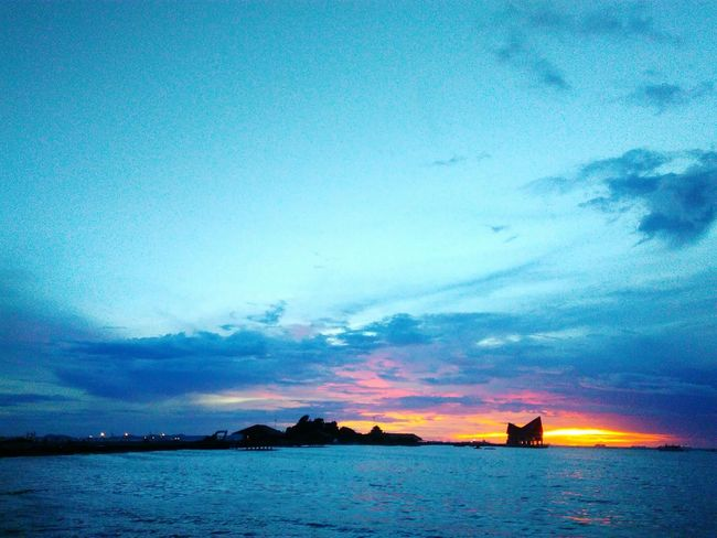 Cloudy Air Rest Day Scenics Sky Chon Buri Nature Weather Landscape Clouds And Sky Raining Cloud Sea View Thailand Cloud Si Racha Orange Color Colorful Sunset Happy Travel