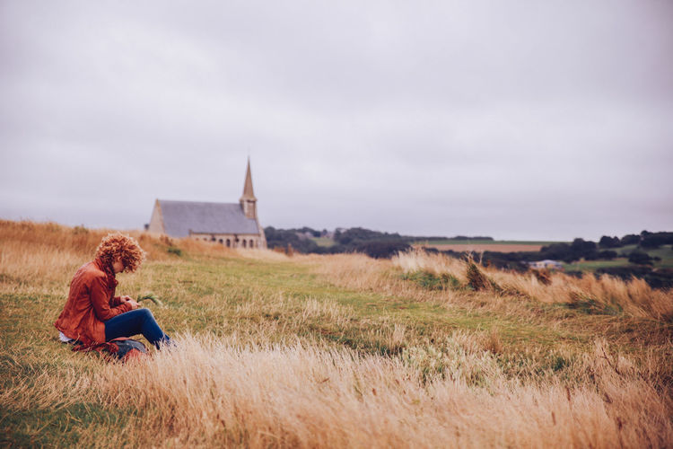 Church Cloudy Curly Hair Field Focus On Foreground Getting Away From It All Girl Grass Grassy Hay Landscape Outdoors Plaiting Grass Rural Scene Tranquility Windy Women Who Inspire You Let Your Hair Down The Great Outdoors With Adobe The Great Outdoors - 2016 EyeEm Awards People And Places Exploring Style Break The Mold TCPM Breathing Space Been There. Done That. Lost In The Landscape Connected By Travel Fashion Stories An Eye For Travel The Great Outdoors - 2018 EyeEm Awards