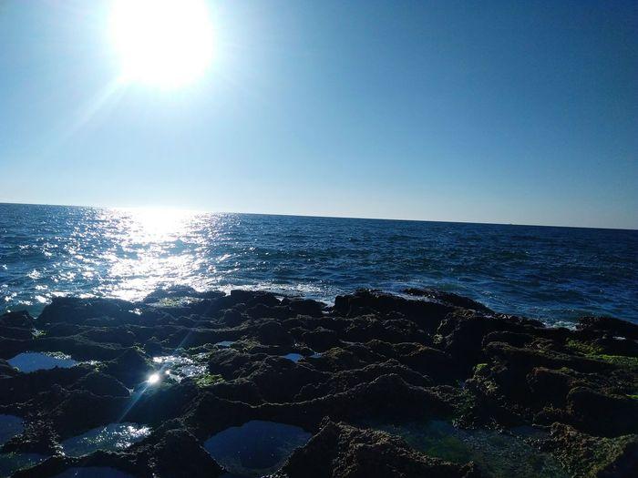 Atlantic Ocean The Traveler - 2018 EyeEm Awards EyeEmNewHere Water Clear Sky Sea Blue Beach Sunlight Sun Wave Backgrounds Sky