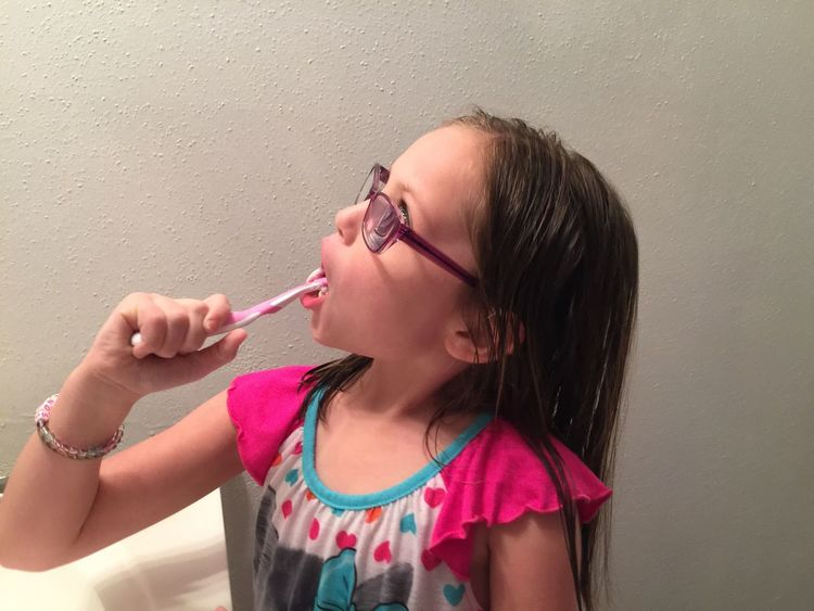 Millennial Pink Holding Pink Color Indoors  Close-up Young Girl Brushing My Teeth White Background Eyeem Market Eyeem Photography EyeEm Gallery EyeEm Texas Investing In Quality Of Life This Is Family