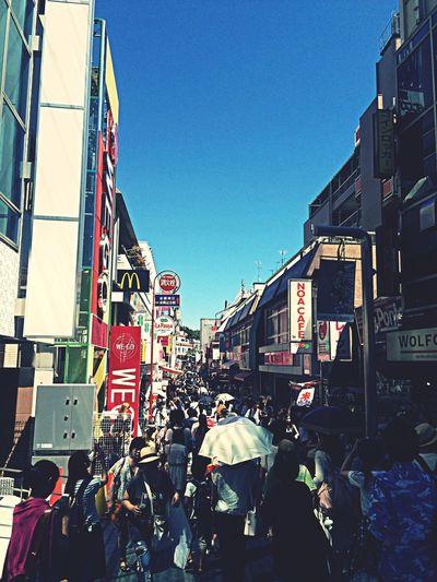 暑い。熱い〜 very hot TakeshitaDori