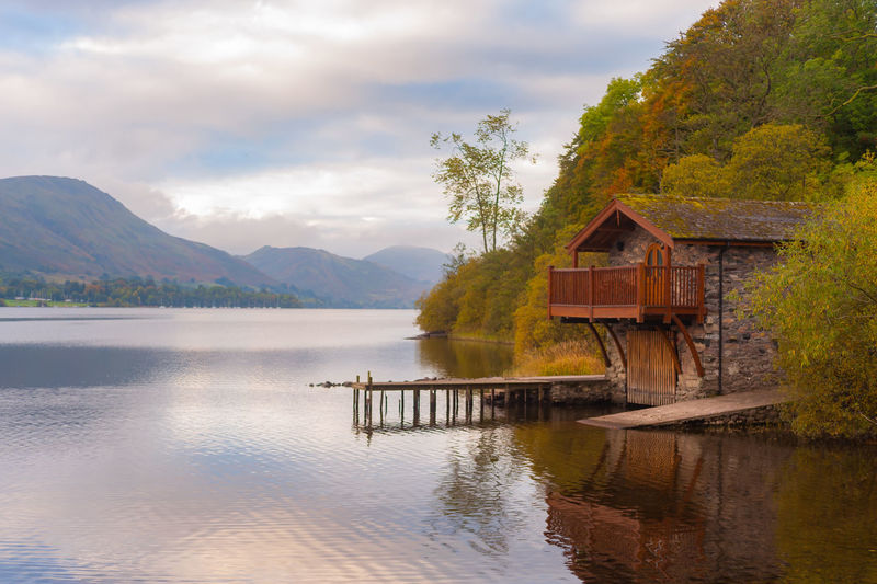 Lake District Ullswater Beauty In Nature Building Building Exterior Built Structure Cloud - Sky Cottage House Jetty Lake Mountain Mountain Range Nature No People Outdoors Plant Reflection Scenics - Nature Sky Tranquil Scene Tranquility Tree Water