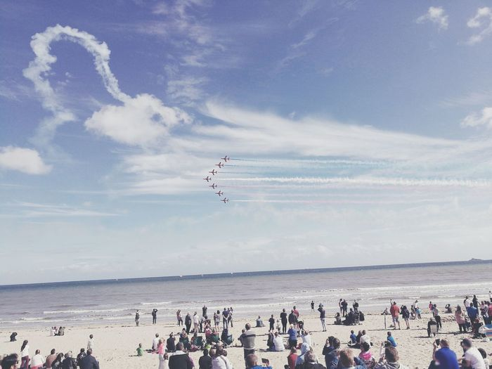 Swansea Bay air show! Swansea Bay National Airshow Red Arrows Beach Scenery