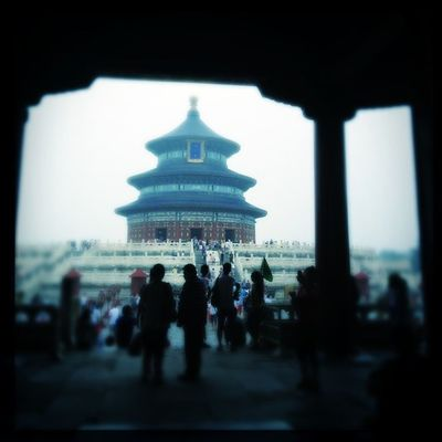 Temple Of Heaven, Silhouette #Hipstamatic #Oggl #Tinto1884 #W40 Hipstamatic W40 Tinto1884 Oggl