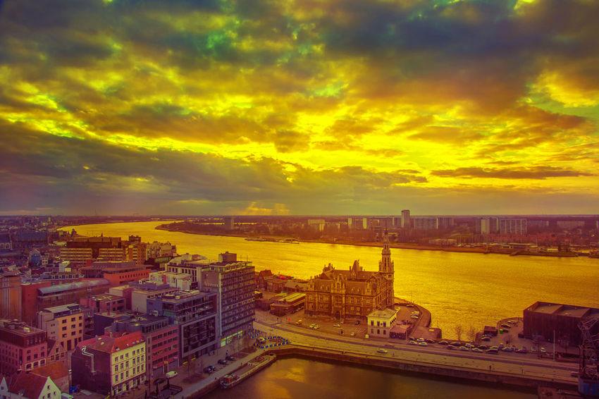 Antwerp Antwerp Harbour Antwerp, Belgium Antwerpen Atmospheric Mood Belgium Belgium. Belgique. Belgie. Belgien. Etc. Cloud Cloud - Sky Cloudscape Cloudy Dramatic Sky Moody Sky Outdoors Schelde Sky Sunset