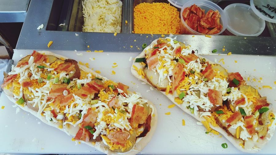 Baked potato flatbread Food And Drink Charleston Flats Pizza Myrtle Beach SC Foodies