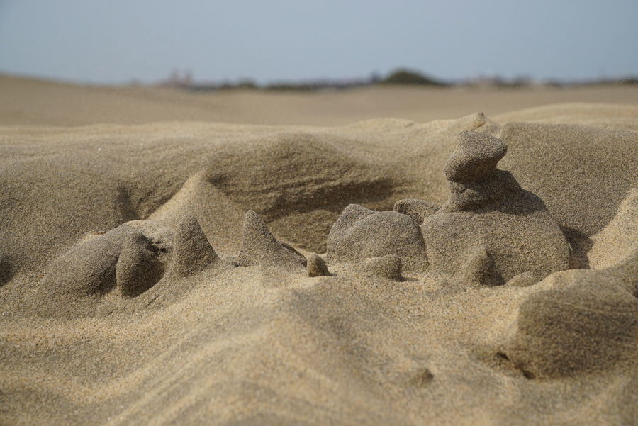 miniatur landscape made of sand, rain and wind Gran Canaria Canarian Islands Sand Sand Dune Dunes De Maspalomas Dunes Nature Beauty In Nature Sculpture Sonya6000