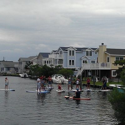 Stand Up Paddleboarding (SUP) in the inlet FenwickIsland Oceancitycool