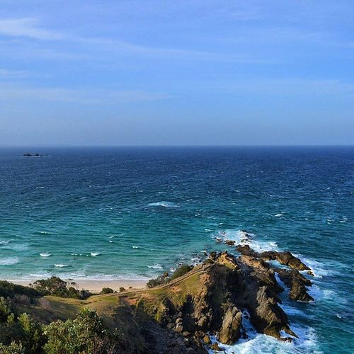 Stood at the most easterly point of Australia and no matter how hard I squint, I will never be able to see South America Australia Travelling Rtw ChasingTheWorld LifesABeach EastCoast CapeByron JulianRocks NSW LifeOnTheMove