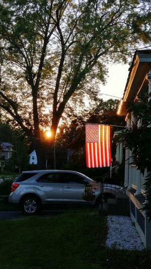Star Spangled Banner Proud To Be An American Sunset LG G4 Lgg4photography Greenfield Ma Taking Photos Phoneography Androidography Creative Light And Shadow