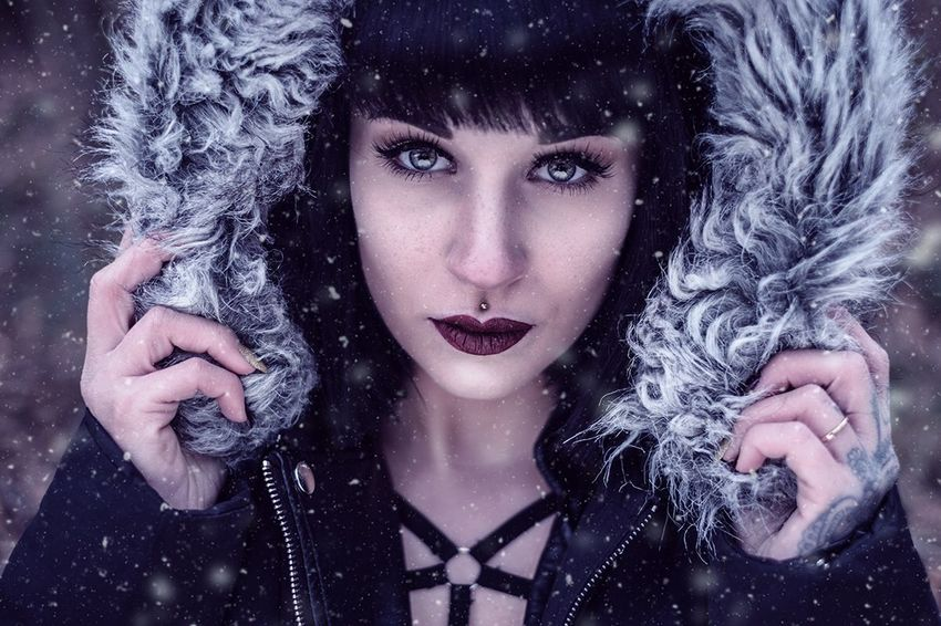 Winter Beauty Beautiful Woman Cold Temperature Snow Adult Beautiful People One Woman Only Only Women Adults Only Portrait One Person Warm Clothing Snowflake People Human Body Part Young Adult Fur Fashion Frost