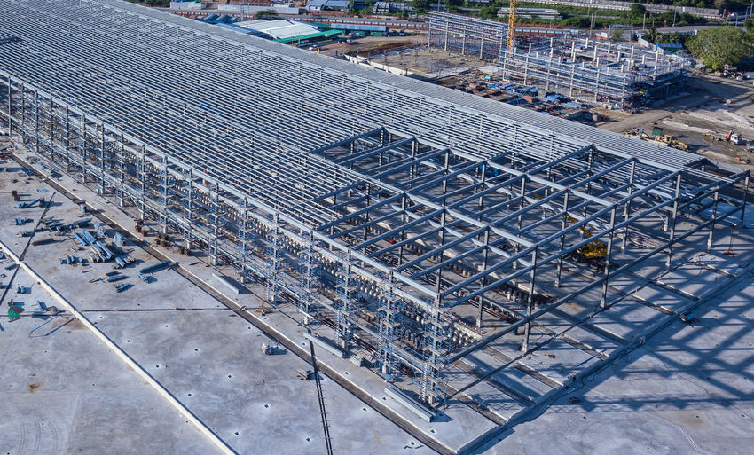 The steel frame